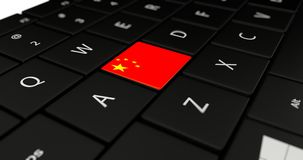Close up of China button. Stock Photo