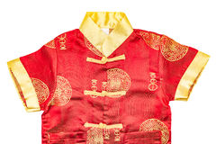 Close up of Chinese boy's traditional clothing Royalty Free Stock Image