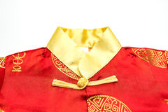 Close up of Chinese boy's traditional clothing Royalty Free Stock Photos