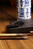 Close up of Chinese Brush, focus on the brush Royalty Free Stock Photography