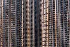 Close up of chinese commercial residential building stock photos