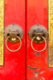 Close-up of chinese door Royalty Free Stock Photography