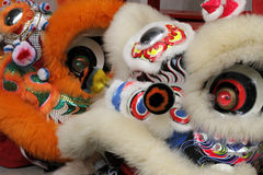 Close up of a chinese dragon head costume. During a celebration birmingham west midlands uk Stock Images