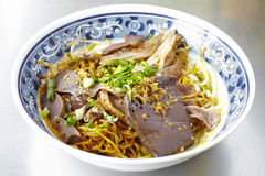 Close up chinese duck steam noodle Stock Photography