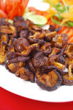 Close up chinese food from mushroom fried Stock Photography