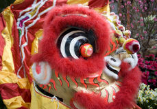 Close-up of chinese lion head Stock Photo