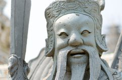 Close up of chinese soldier statue Stock Images