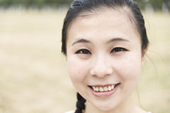 Close-up of a young girl. Close-up of a Chinese young girl Royalty Free Stock Photos