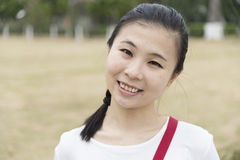 Close-up of a young girl. Close-up of a Chinese young girl Royalty Free Stock Images