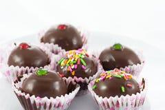 Close up chocolate ball Royalty Free Stock Photos