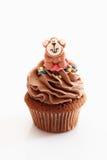 Close up of chocolate buttercream cupcake Stock Image