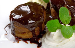 Close-up chocolate cake Royalty Free Stock Photo