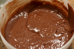 Close-up of Chocolate cake batter Stock Image