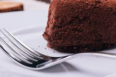 Close up of chocolate cake Royalty Free Stock Photo