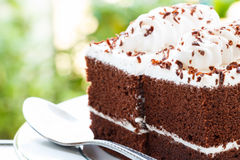 Close up of chocolate cakes Royalty Free Stock Images