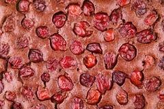 Chocolate cherry tart stock photography