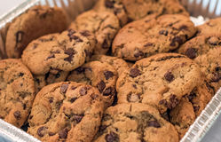 Close up of Chocolate Chip Cookies Royalty Free Stock Photos