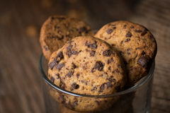Close up of Chocolate Chip Cookies Royalty Free Stock Photography