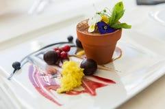 Close up of chocolate dessert at restaurant Stock Photo
