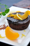 Close up Chocolate Lava Cake Stock Image