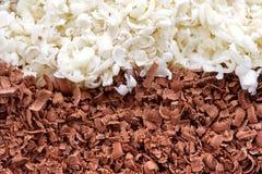 Close up of chocolate shavings Stock Photo
