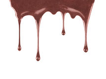 Close up of chocolate syrup leaking Stock Image