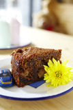Close up chocolate toffee cake Stock Photo