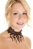 Close up choker beads lace Stock Image