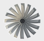 Close up on chome ventilator turbine Royalty Free Stock Photos