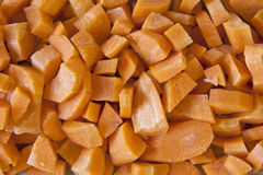 Close-up of Chopped Carrots Stock Photography