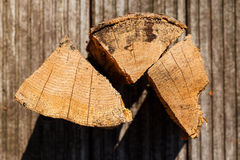 Close up of chopped fire wood pieces Stock Image