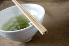 Close up chopstick on bowl Royalty Free Stock Image