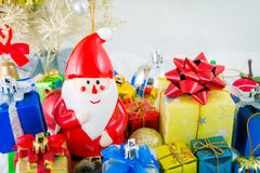 Close up Christmas background. Satacause Stock Image