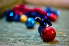 Christmas decorations. Close up of a christmas ball decoration Stock Photography