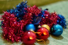 Christmas decorations. Close up of a christmas ball decoration Stock Photo