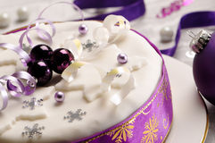 Close Up Christmas Cake Royalty Free Stock Photography