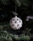 Close-up of Christmas Decoration Hanging on Tree Stock Photography