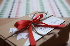Close-up of Christmas Decorations stock photography