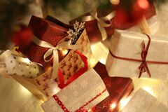 Close-up of Christmas Decorations Royalty Free Stock Photos