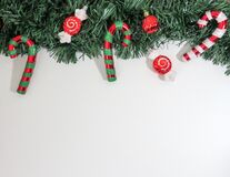 Close-up of Christmas Decorations Hanging on Tree stock photos