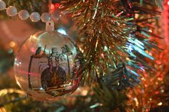 Close up Christmas Decorations Stock Image