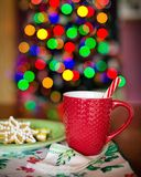 Close-up of Christmas Decorations on Tree Royalty Free Stock Photos