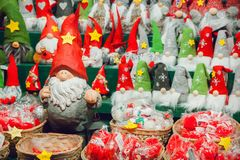 Christmas gnomes Stock Images