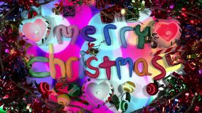 Christmas lights alphabet stock video