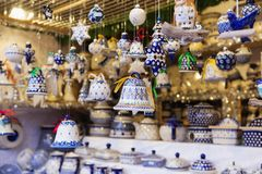 Close up of Christmas market stall in Vienna, Austria. Christmas royalty free stock images
