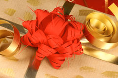 Close-up of a Christmas present Royalty Free Stock Images