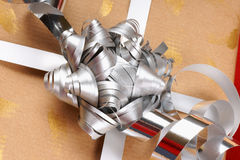 Close-up of a Christmas present Royalty Free Stock Photos