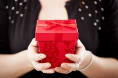 Close up of a christmas present Royalty Free Stock Photos