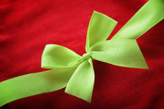 Close up of Christmas ribbon Royalty Free Stock Image