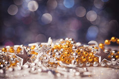 Close up of christmas toys Royalty Free Stock Images